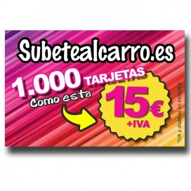TARGETAS DE VISITA BRILLO 1000. Uds.